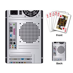 Standard Computer Case Back Playing Card