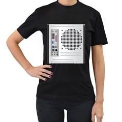 Standard Computer Case Back Women s T Shirt (black)