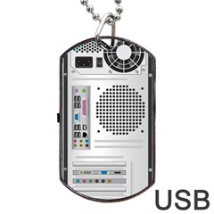 Standard Computer Case Back Dog Tag Usb Flash (two Sides)