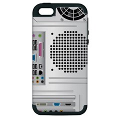 Standard Computer Case Back Apple Iphone 5 Hardshell Case (pc+silicone)