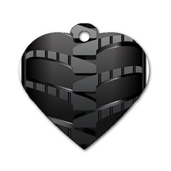 Tire Dog Tag Heart (one Side)