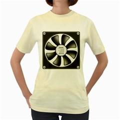 12v Computer Fan Women s Yellow T Shirt