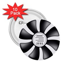 12v Computer Fan 2 25  Buttons (10 Pack)
