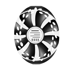 12v Computer Fan Ornament (oval Filigree)