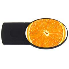 Orange Slice Usb Flash Drive Oval (2 Gb)