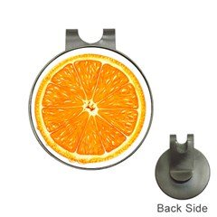 Orange Slice Hat Clips With Golf Markers
