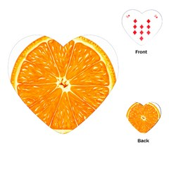 Orange Slice Playing Cards (heart)