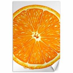 Orange Slice Canvas 24  X 36