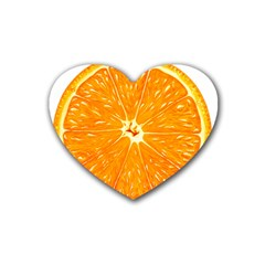 Orange Slice Rubber Coaster (heart)