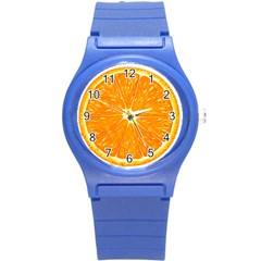 Orange Slice Round Plastic Sport Watch (s)