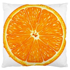 Orange Slice Large Cushion Case (one Side)