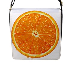 Orange Slice Flap Messenger Bag (l)
