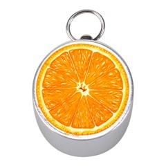 Orange Slice Mini Silver Compasses