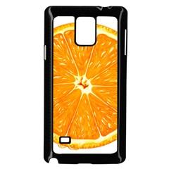 Orange Slice Samsung Galaxy Note 4 Case (black)
