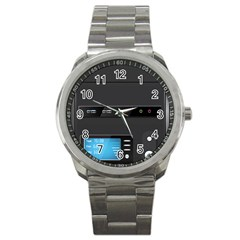 Standard Computer Case Front Sport Metal Watch