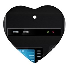 Standard Computer Case Front Heart Ornament (two Sides)