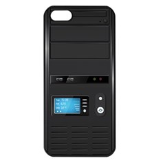 Standard Computer Case Front Apple Iphone 5 Seamless Case (black)