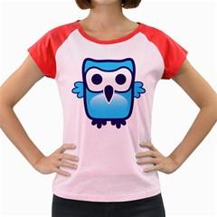 Owl Logo Clip Art Women s Cap Sleeve T Shirt