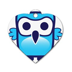 Owl Logo Clip Art Dog Tag Heart (two Sides)