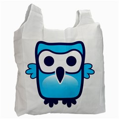 Owl Logo Clip Art Recycle Bag (one Side)