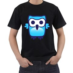 Owl Logo Clip Art Men s T Shirt (black)