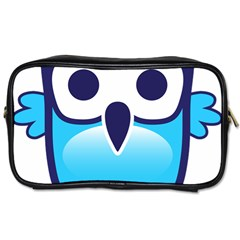Owl Logo Clip Art Toiletries Bags 2 Side