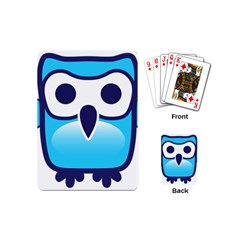 Owl Logo Clip Art Playing Cards (mini)