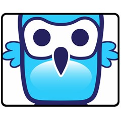 Owl Logo Clip Art Double Sided Fleece Blanket (medium)