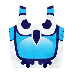 Owl Logo Clip Art Full Print Recycle Bags (l)