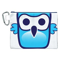 Owl Logo Clip Art Canvas Cosmetic Bag (xxl)