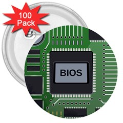 Computer Bios Board 3  Buttons (100 Pack)