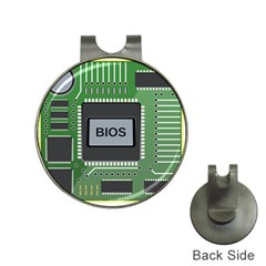 Computer Bios Board Hat Clips With Golf Markers