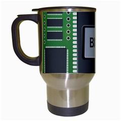 Computer Bios Board Travel Mugs (white)