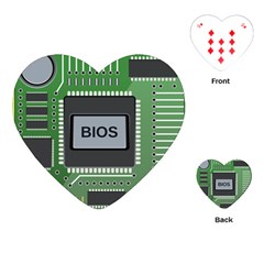 Computer Bios Board Playing Cards (heart)