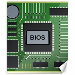 Computer Bios Board Canvas 8  X 10