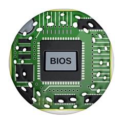 Computer Bios Board Ornament (round Filigree)