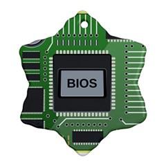 Computer Bios Board Snowflake Ornament (two Sides)