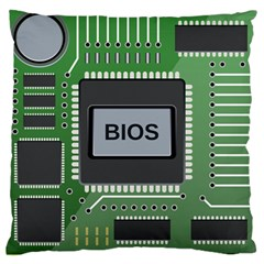 Computer Bios Board Large Cushion Case (two Sides)