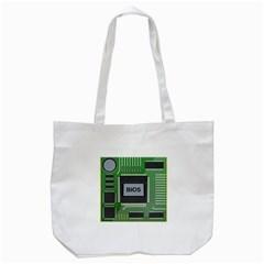 Computer Bios Board Tote Bag (white)