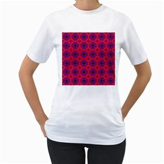 Retro Abstract Boho Unique Women s T Shirt (white) (two Sided)