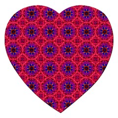 Retro Abstract Boho Unique Jigsaw Puzzle (heart)
