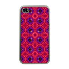 Retro Abstract Boho Unique Apple Iphone 4 Case (clear)