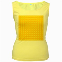 Yellow Pattern Background Texture Women s Yellow Tank Top