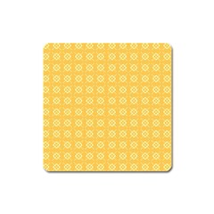 Yellow Pattern Background Texture Square Magnet