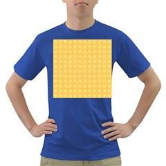 Yellow Pattern Background Texture Dark T Shirt
