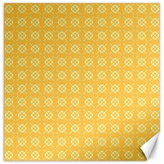 Yellow Pattern Background Texture Canvas 16  X 16