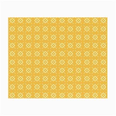 Yellow Pattern Background Texture Small Glasses Cloth (2 Side)