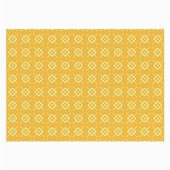 Yellow Pattern Background Texture Large Glasses Cloth (2 Side)