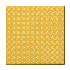 Yellow Pattern Background Texture Face Towel