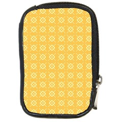 Yellow Pattern Background Texture Compact Camera Cases